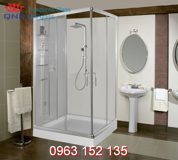 Vài gợi ý hay ho F5 phòng tắm với vách kính tắm đứng